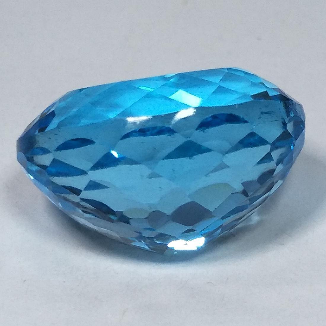 31.09 Carat Loose Swiss Blue Topaz - 3