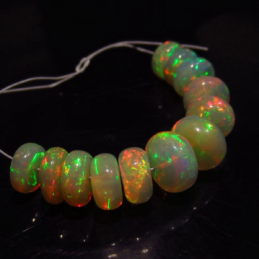 12.03 Carat Natural Loose Opal Beads Set