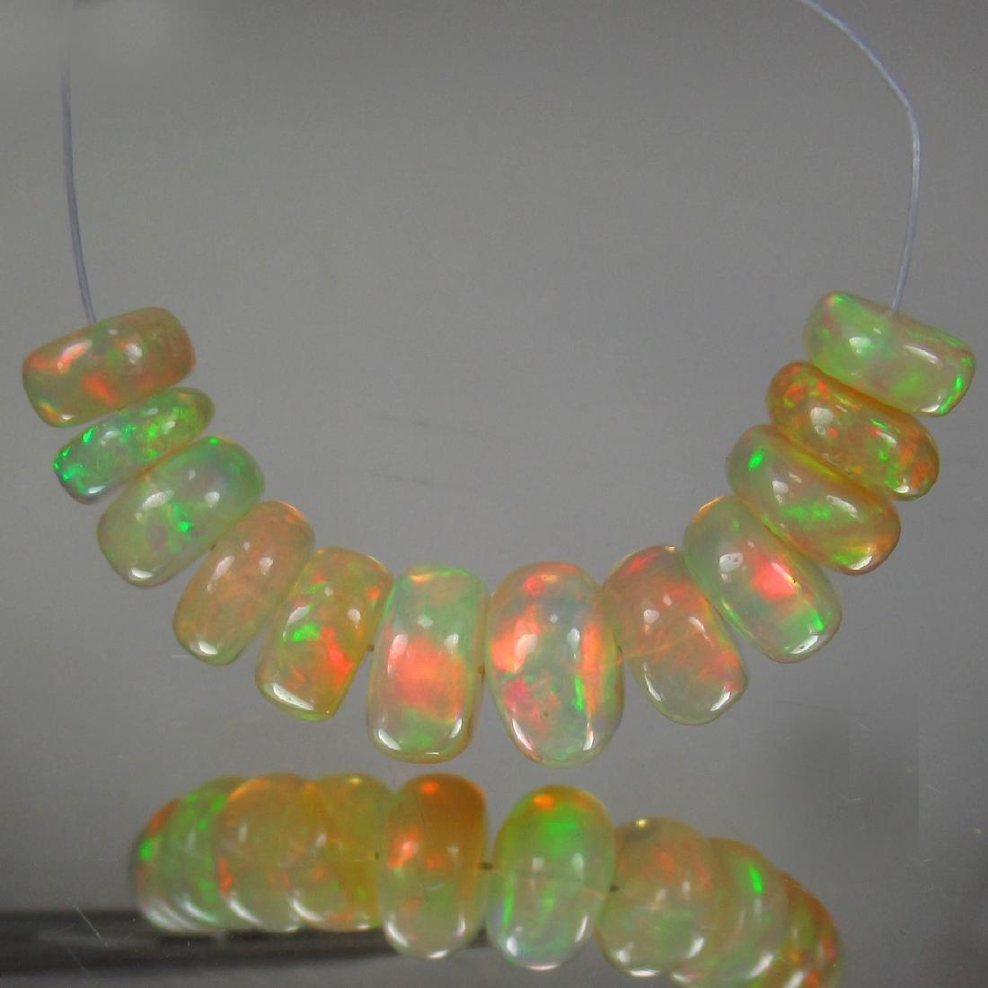 12.03 Carat Natural Loose Opal Beads Set - 2