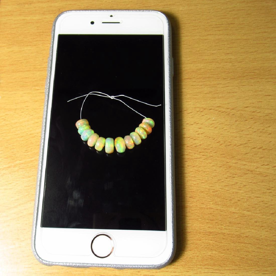 12.03 Carat Natural Loose Opal Beads Set - 5