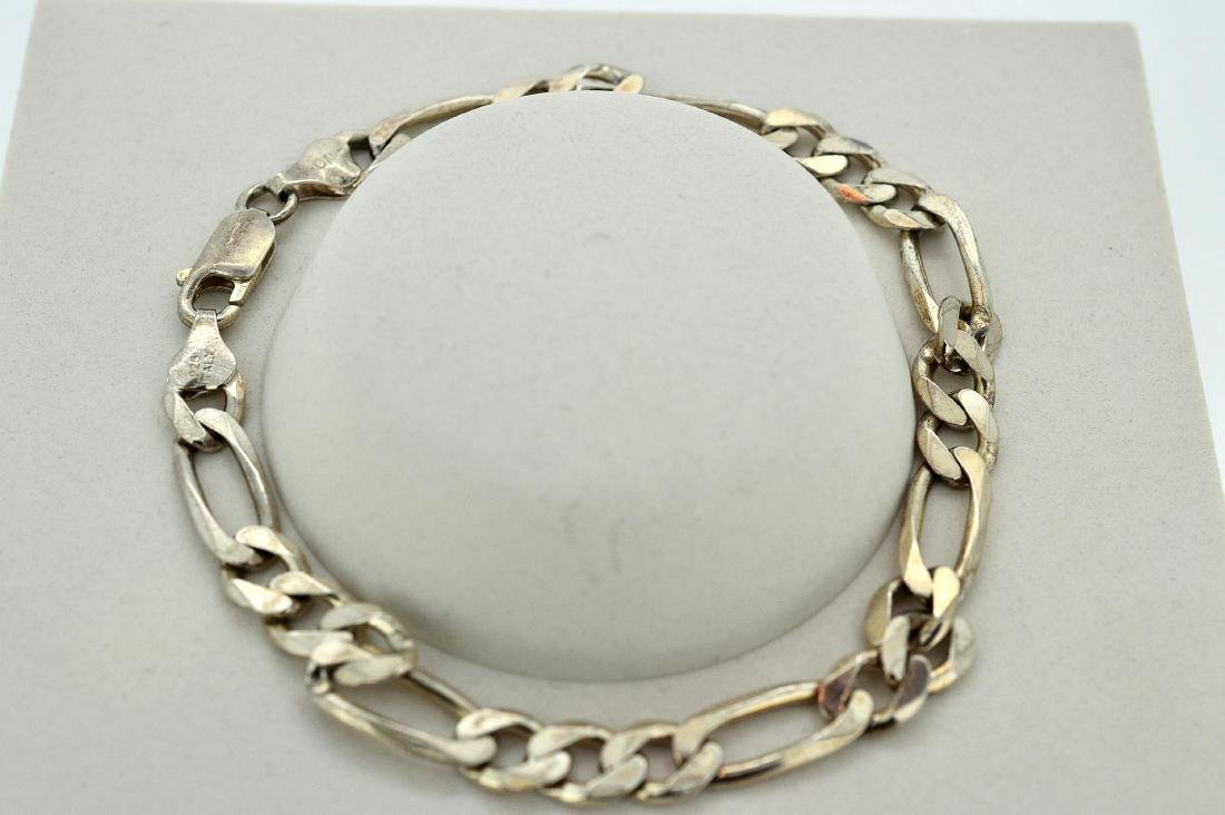 Men's Italian Sterling Silver Figaro Bracelet
