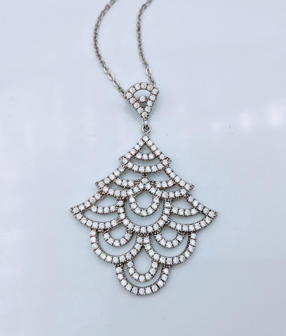 Sterling Silver Cubic Zirconia Christmas Tree Necklace