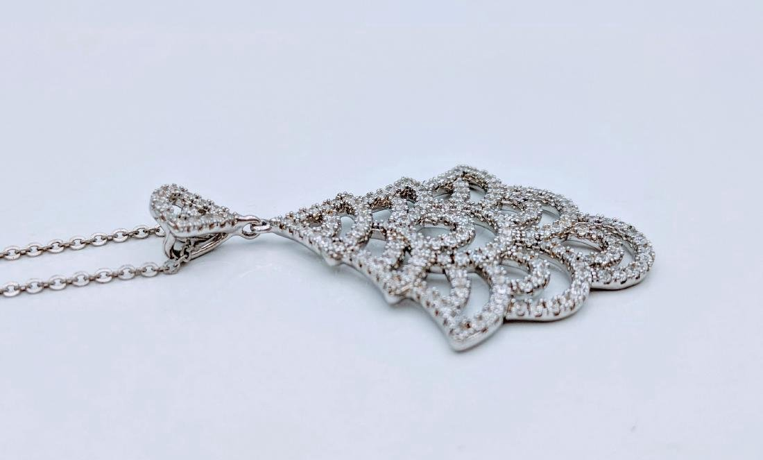 Sterling Silver Cubic Zirconia Christmas Tree Necklace - 2
