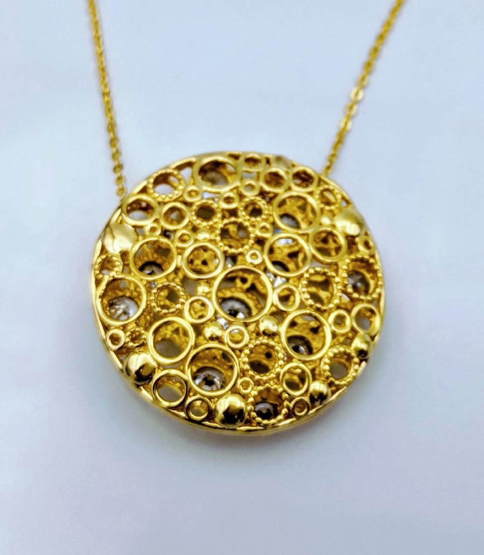 Gold Plated Sterling Silver Cubic Zirconia Necklace - 2