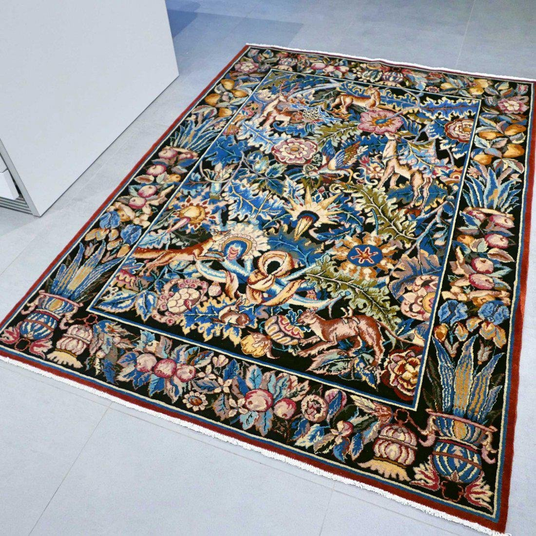 Tabriz Hand Knotted Rug 6.4x4.7 - 2