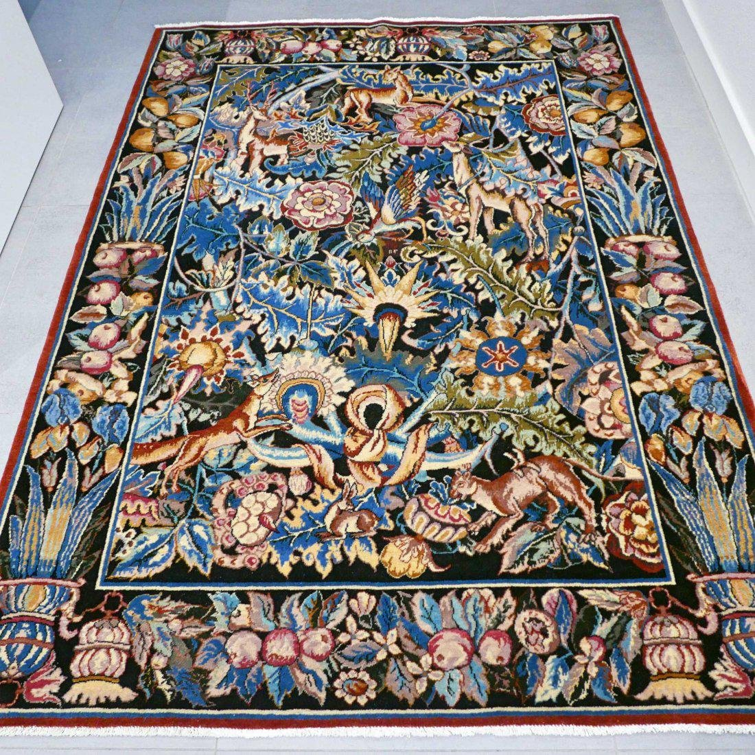 Tabriz Hand Knotted Rug 6.4x4.7 - 3