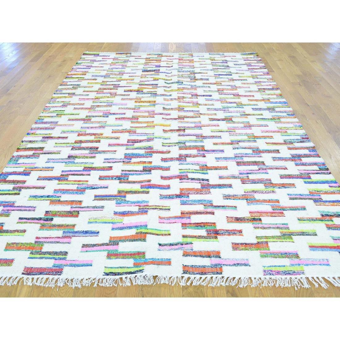 Flat Weave Kilim Hand Woven Oriental Rug 6x9.1 - 2