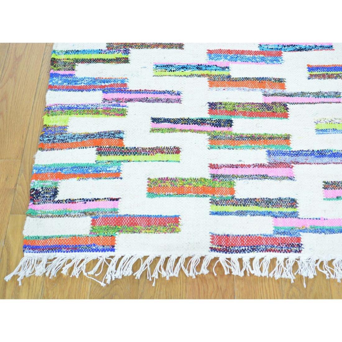 Flat Weave Kilim Hand Woven Oriental Rug 6x9.1 - 3