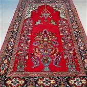 Qum Persian Hand Knotted Kork Wool Rug 5.1x3.3