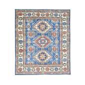 HandKnotted Tribal Design Kazak Pure Wool Rug 85x10