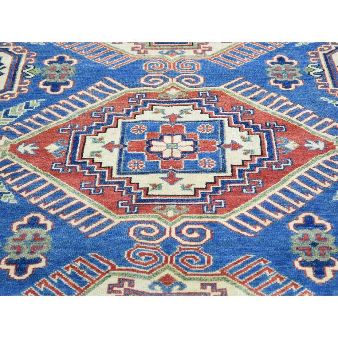 Hand-Knotted Tribal Design Kazak Pure Wool Rug 8.5x10 - 4