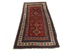 Authentic Antique Kazakg Caucasian Rug 4x7