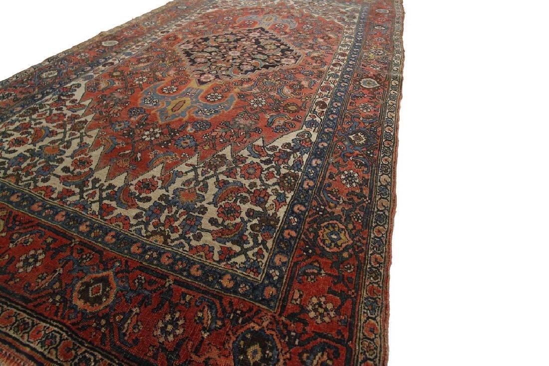 Authentic Antique Bijar Rug Fine Persian Rug 5x8 - 2