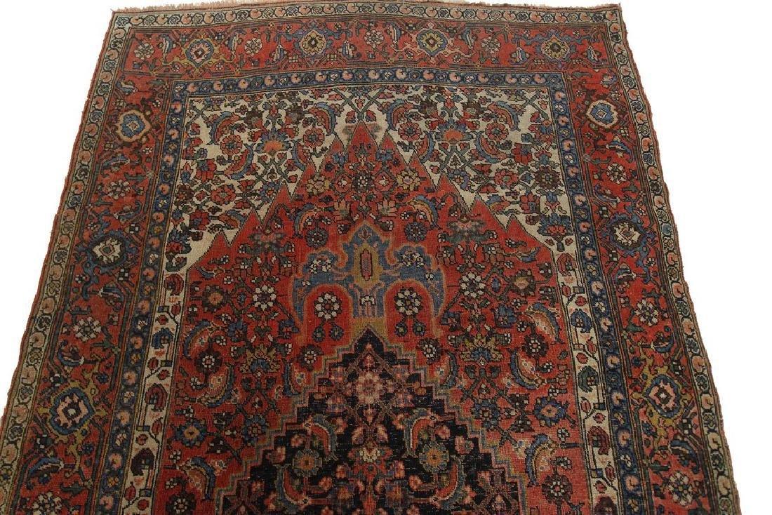 Authentic Antique Bijar Rug Fine Persian Rug 5x8 - 4