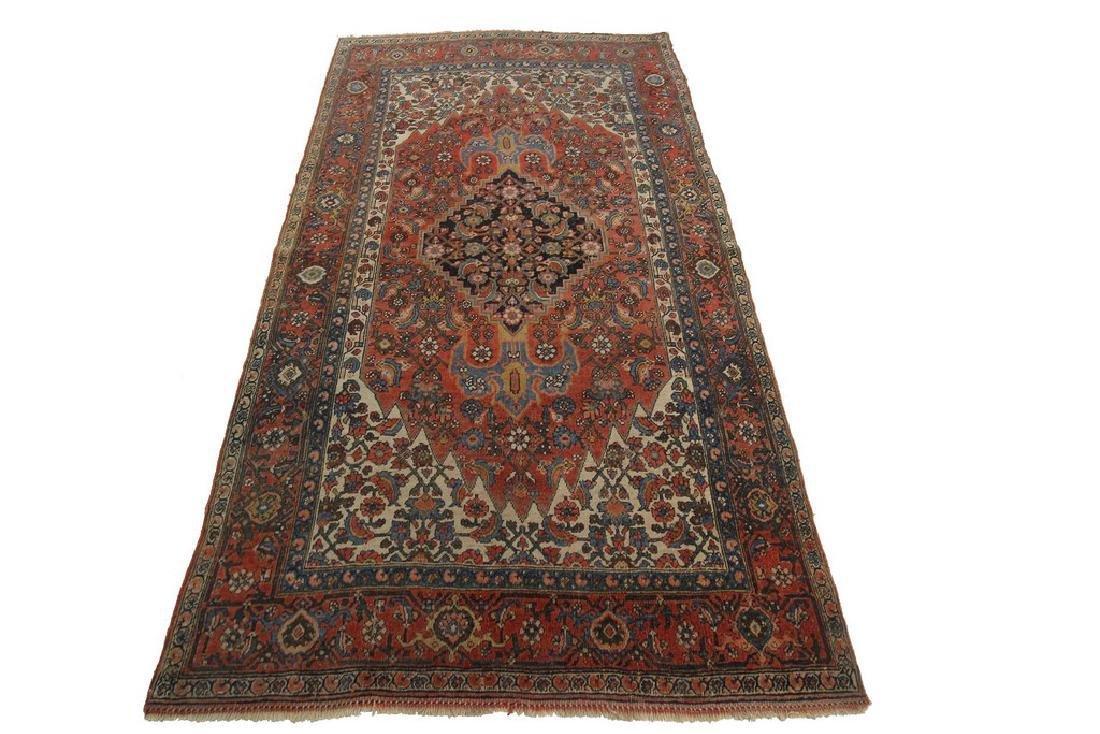Authentic Antique Bijar Rug Fine Persian Rug 5x8 - 6