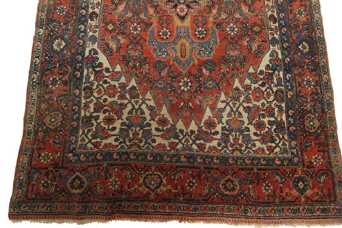 Authentic Antique Bijar Rug Fine Persian Rug 5x8 - 7