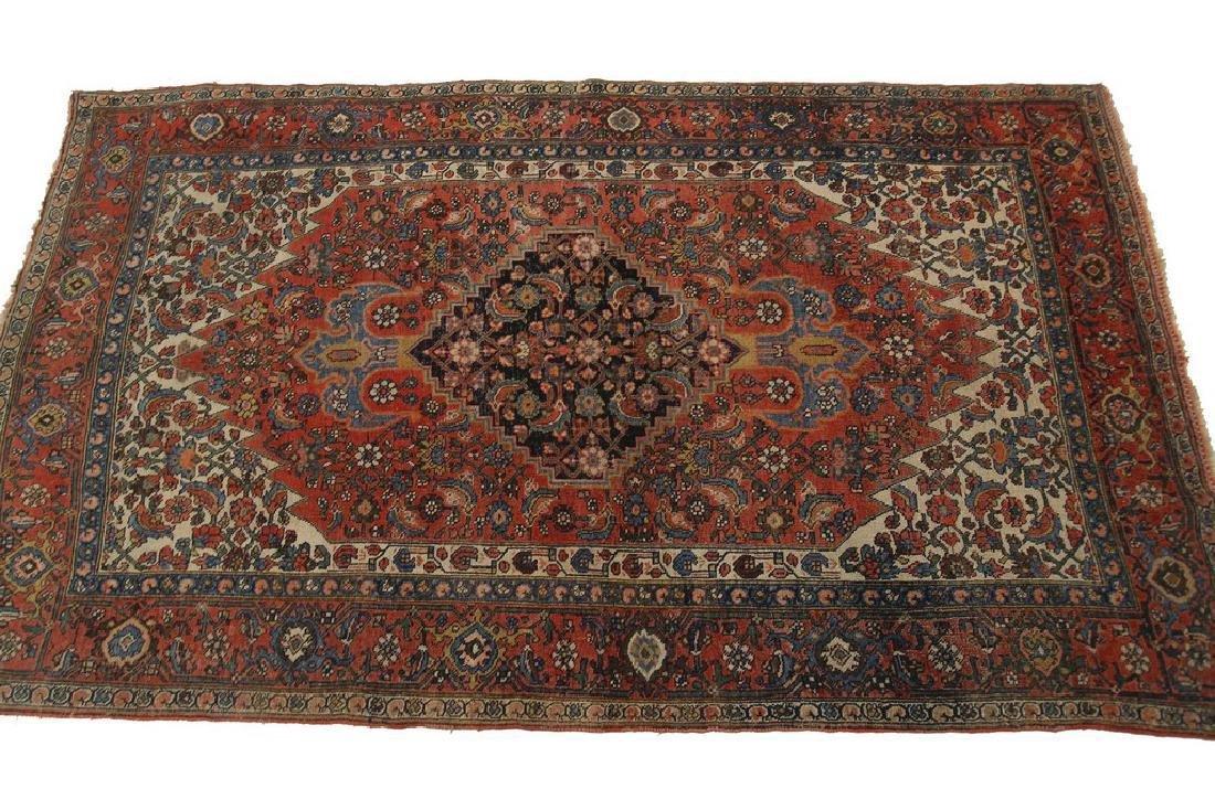 Authentic Antique Bijar Rug Fine Persian Rug 5x8 - 8