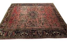 Antique Persian Sarouk Mohajeran Rug Signed 8x10