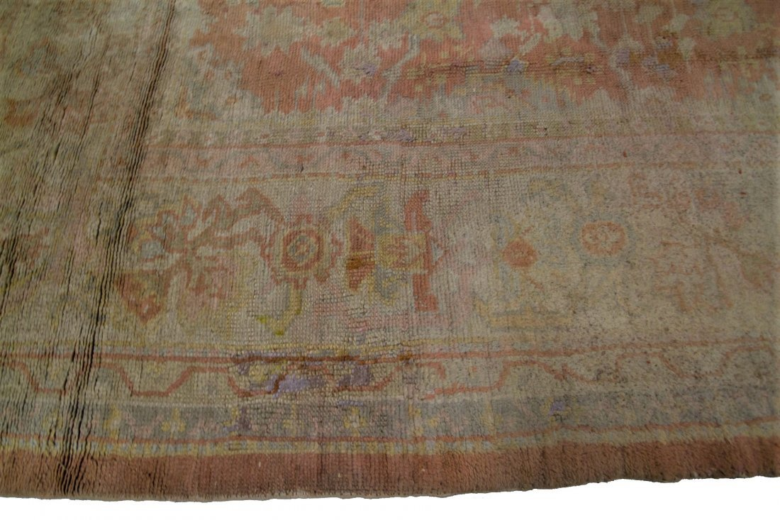 Authentic Antique Oushak Rug Hand Made Rug 10x15 - 2