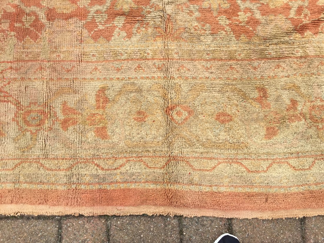 Authentic Antique Oushak Rug Hand Made Rug 10x15 - 6