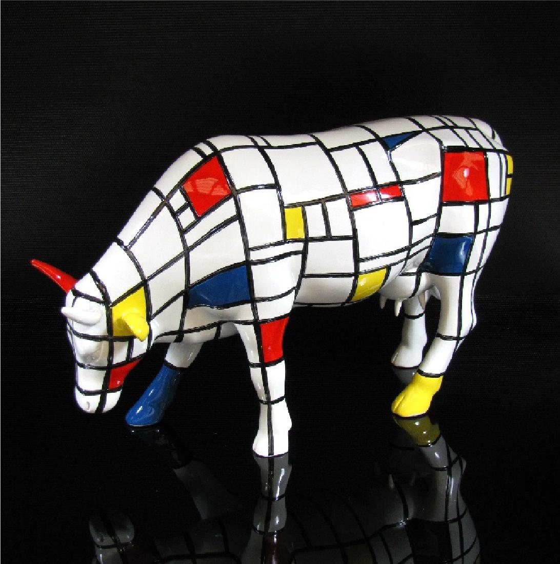 CowParade - Cow Moondrian Large - Jon Eastman