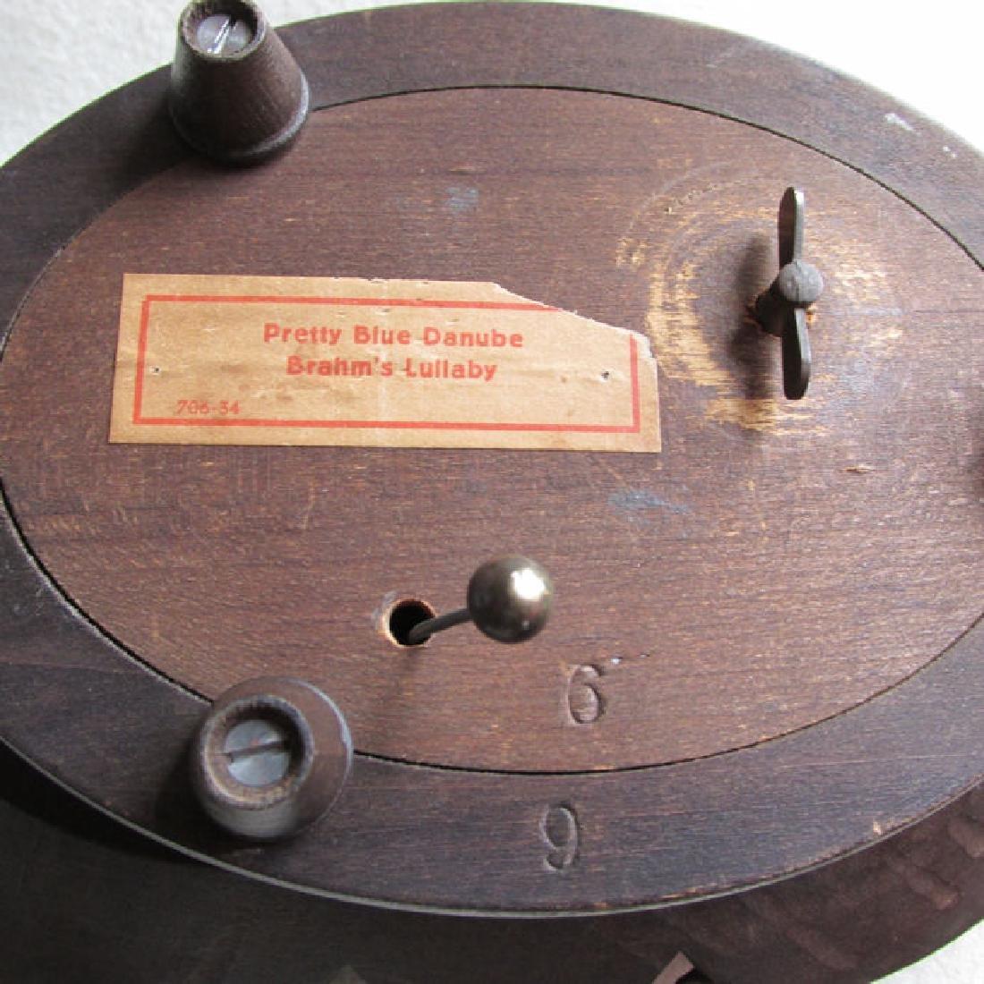 Hand Carved German, Black Forest Fruit Basket Music Box - 4