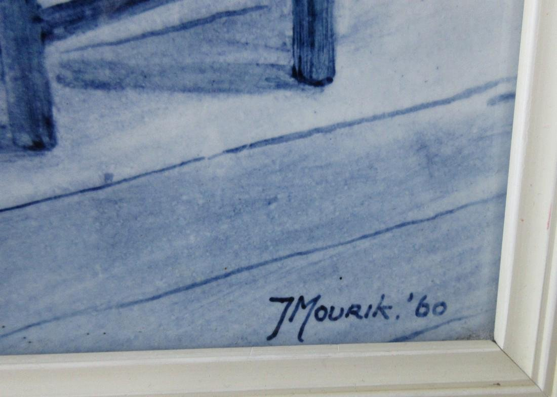 Delftware Ceramic Tile Painting, J. Mourik - 7