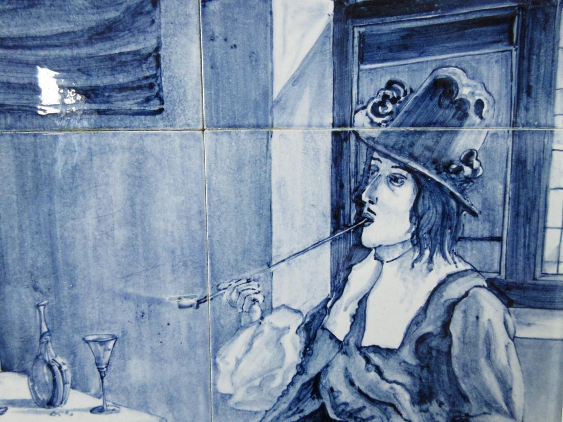 Delftware Ceramic Tile Painting, J. Mourik - 9