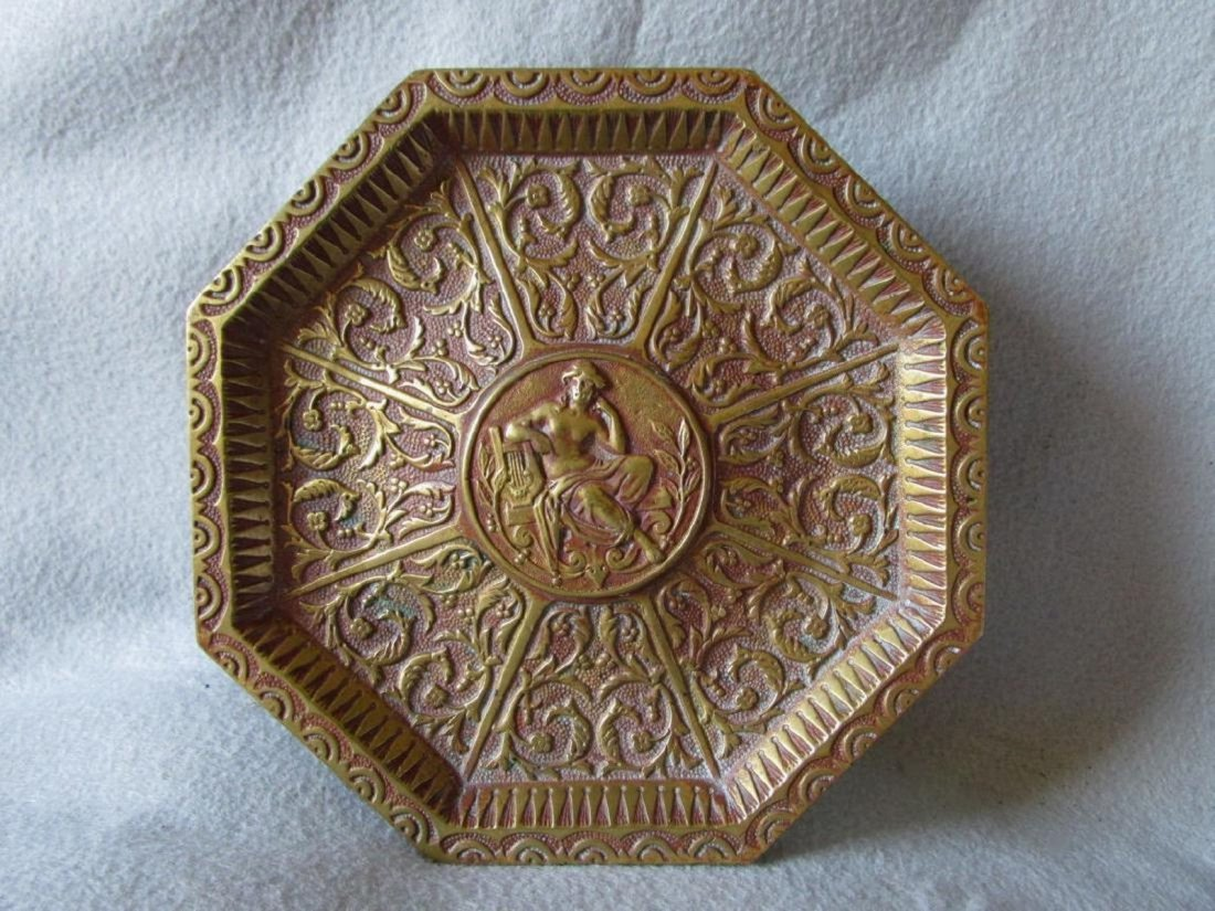 Bronze Tray, Nude with Lyre, Calling Card Tray
