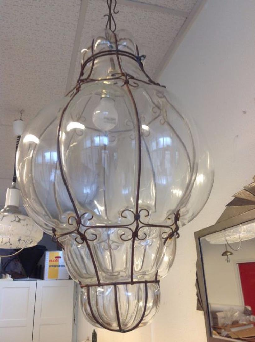 Large Murano Glass Caged Lantern - 3
