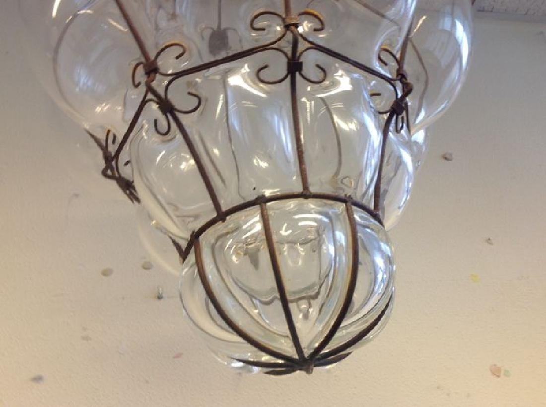 Large Murano Glass Caged Lantern - 5