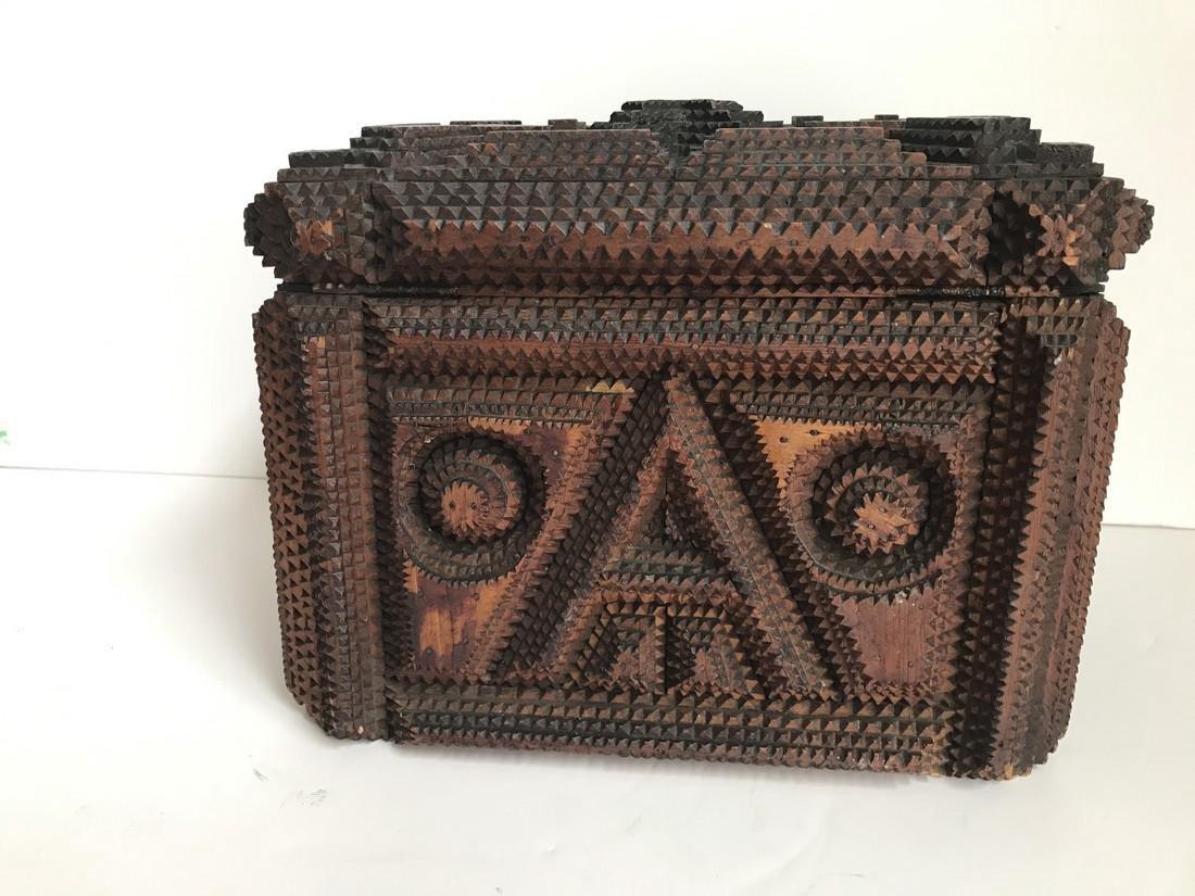 Tramp Art Box - 4