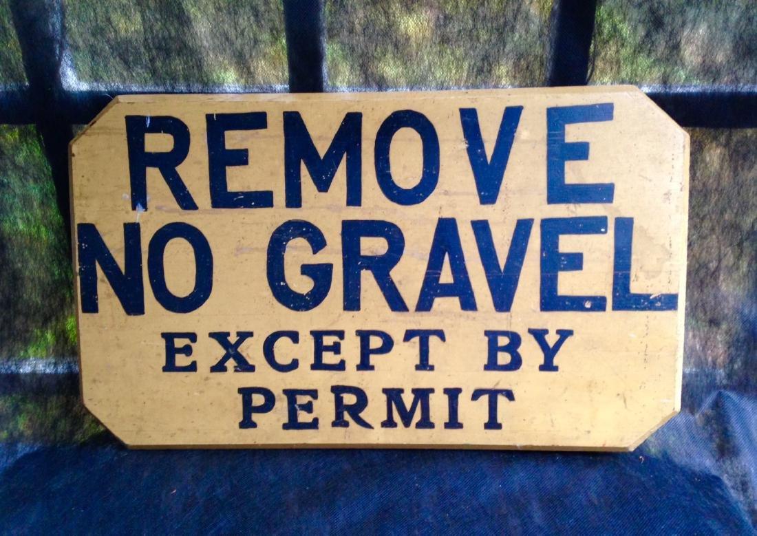 Gravel Sign Circa 1940