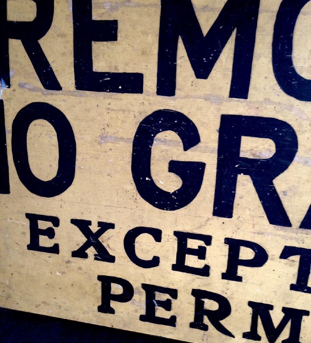 Gravel Sign Circa 1940 - 2