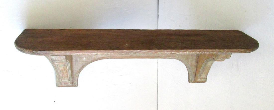 Early Carved Wall Shelf - 5