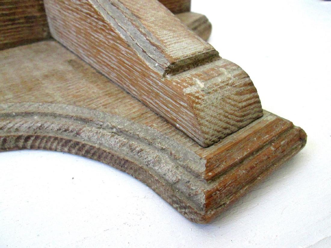 Early Carved Wall Shelf - 9
