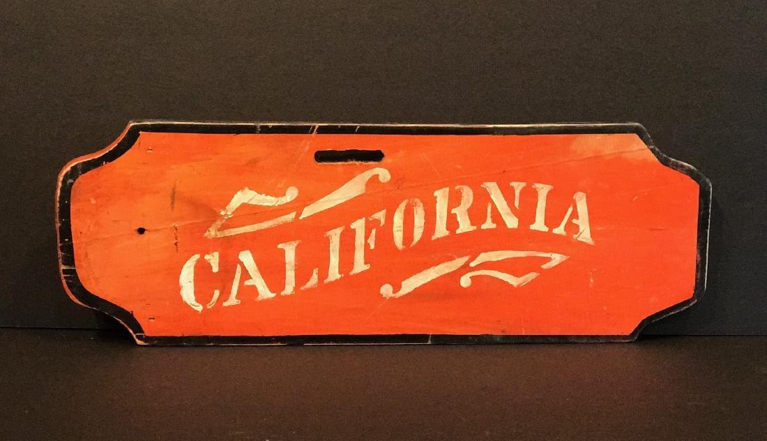CALIFORNIA Sign, c. 1890