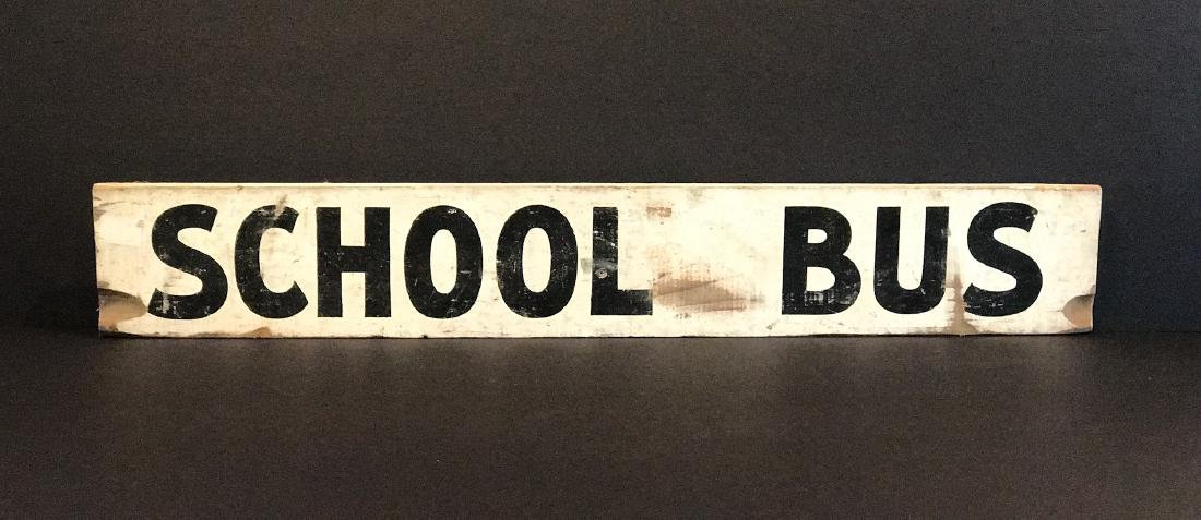 SCHOOL BUS Sign, c. 1940