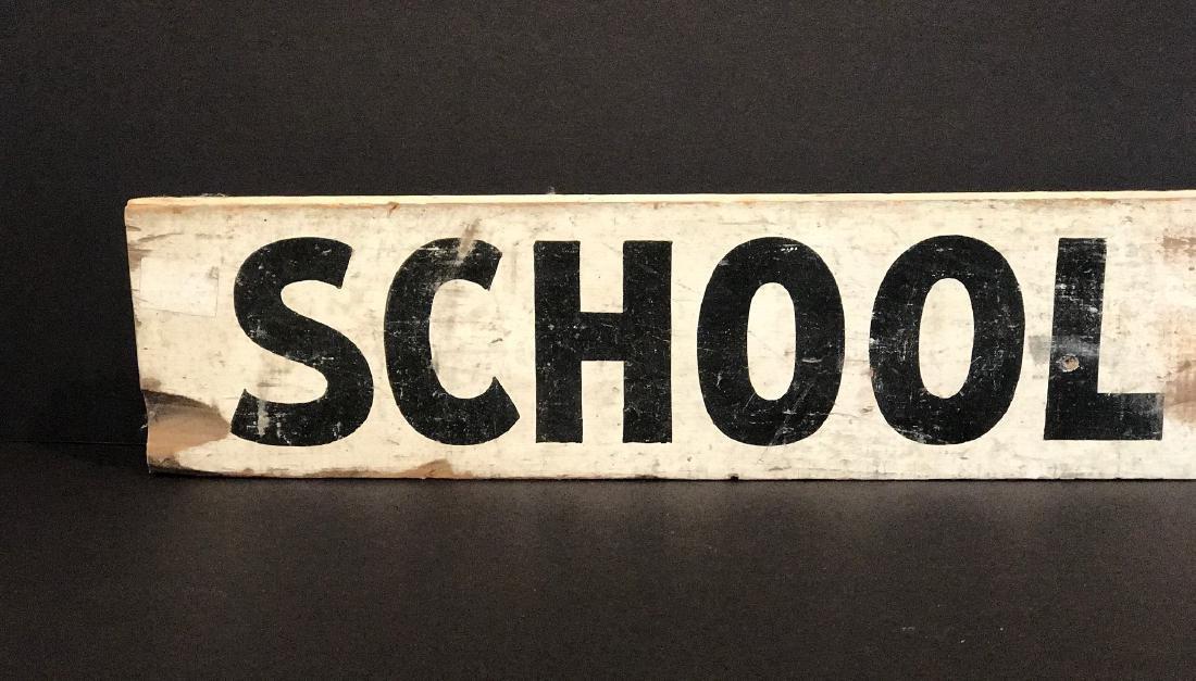 SCHOOL BUS Sign, c. 1940 - 2