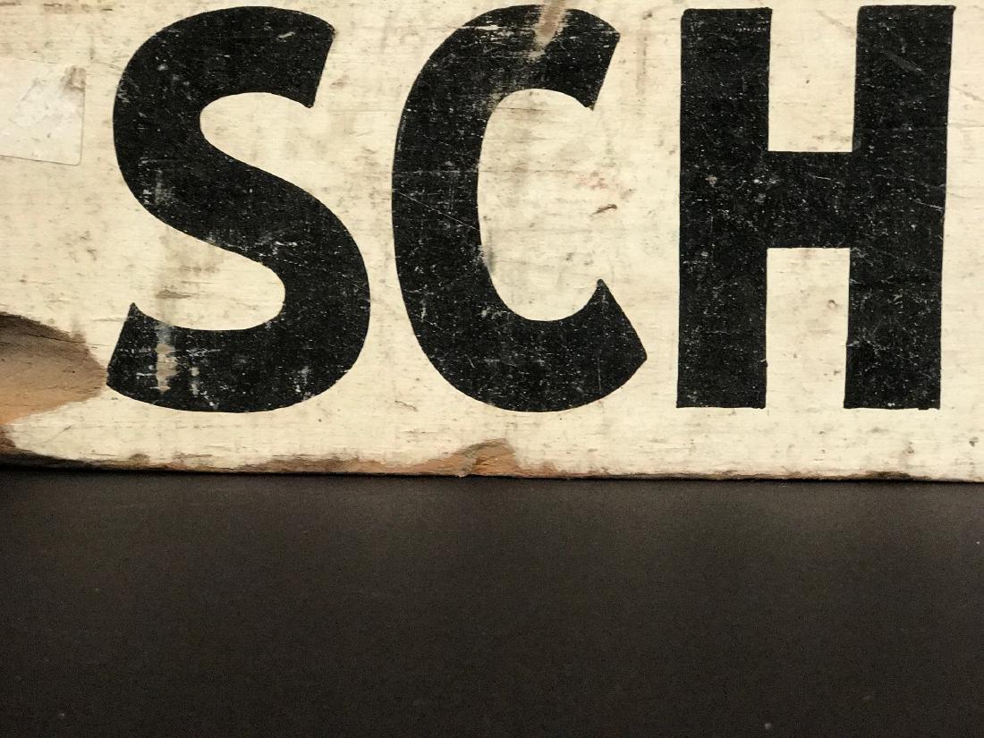 SCHOOL BUS Sign, c. 1940 - 4