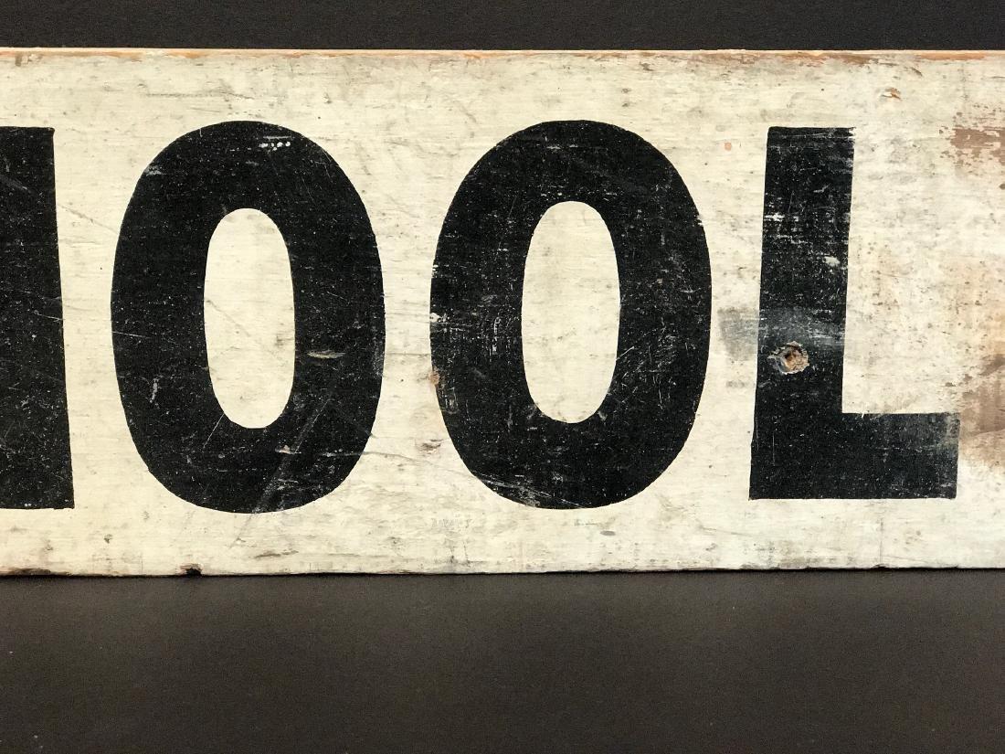 SCHOOL BUS Sign, c. 1940 - 5