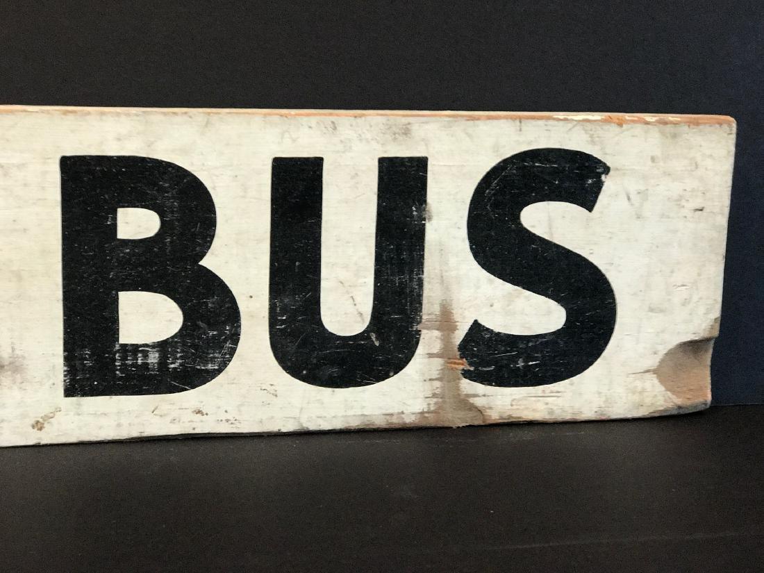 SCHOOL BUS Sign, c. 1940 - 6