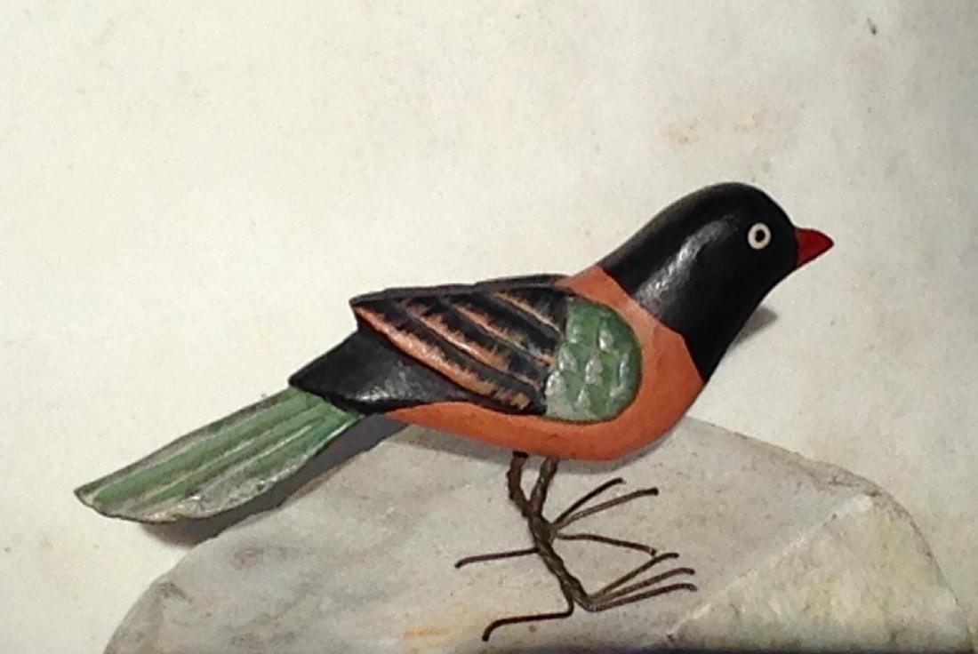 1920s Folk Art Carved Bird