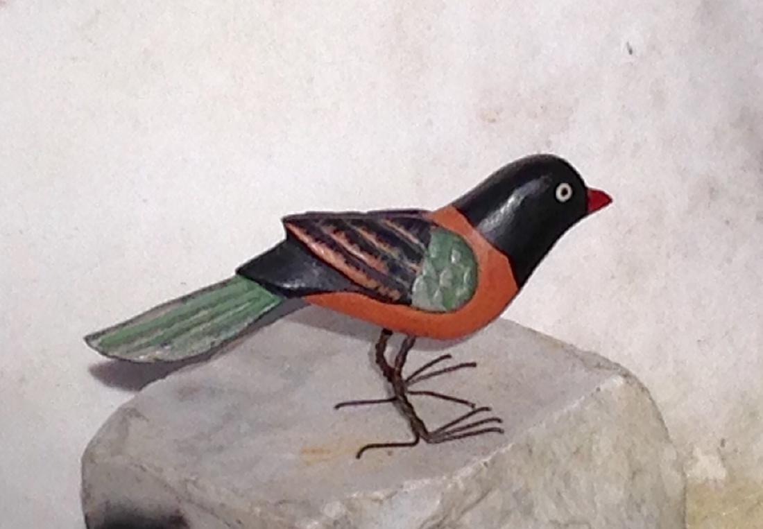 1920s Folk Art Carved Bird - 3