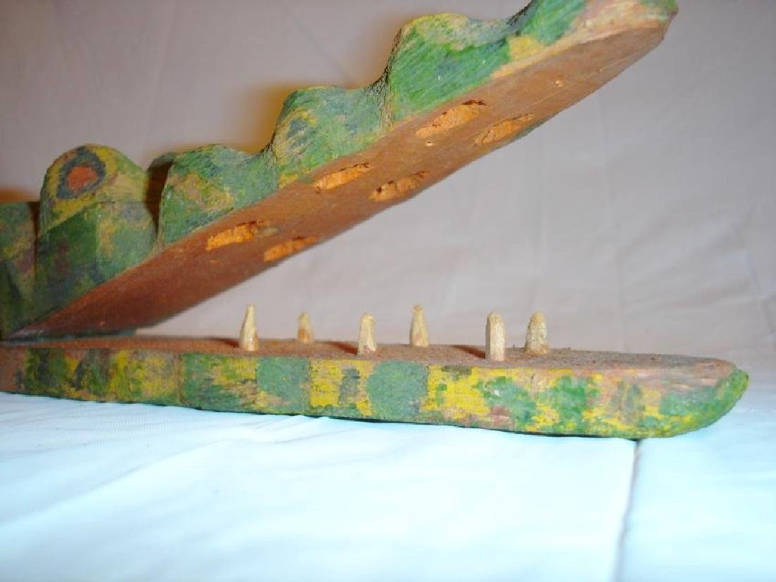 Carved Alligator Paper Holder - 5
