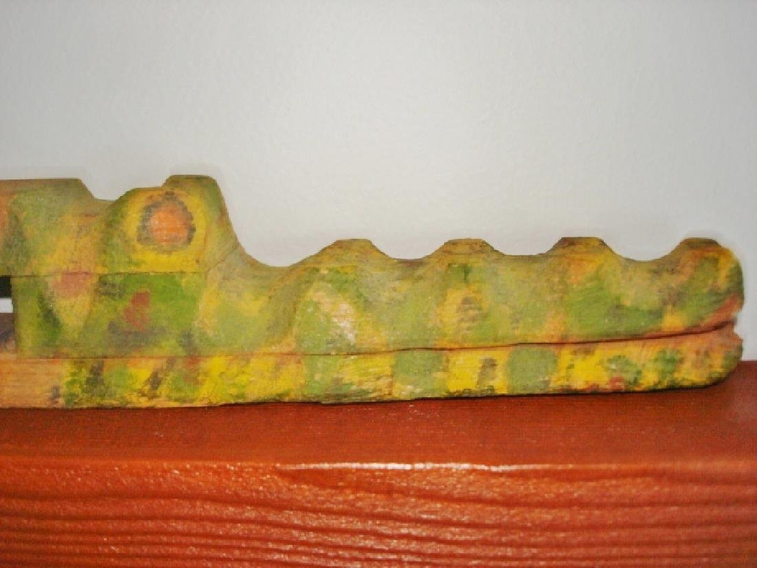 Carved Alligator Paper Holder - 6