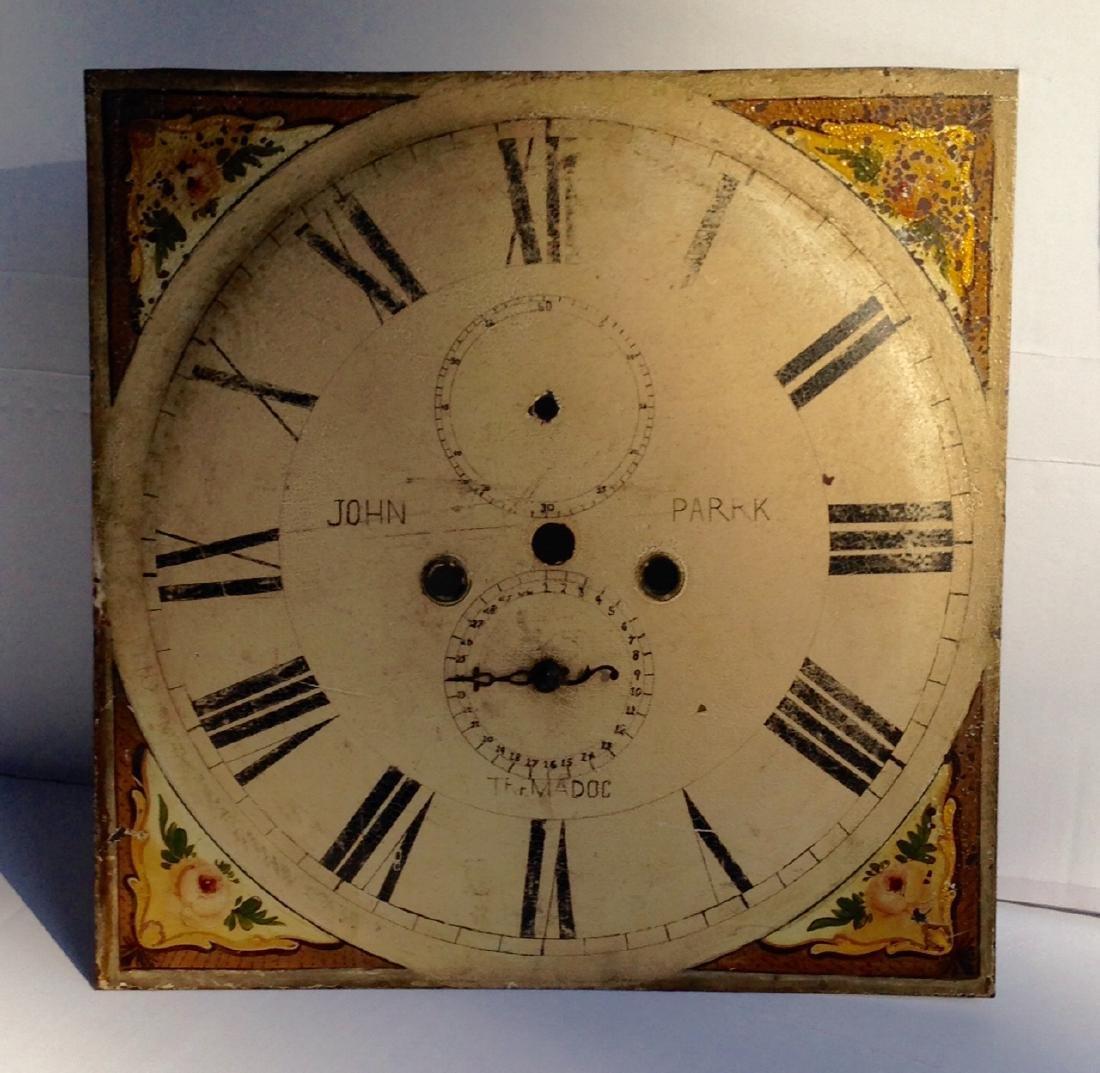 19th C Iron Clock Face in Original Paint