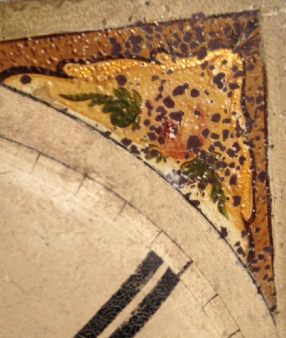 19th C Iron Clock Face in Original Paint - 2