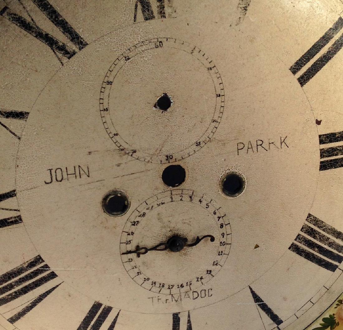 19th C Iron Clock Face in Original Paint - 4