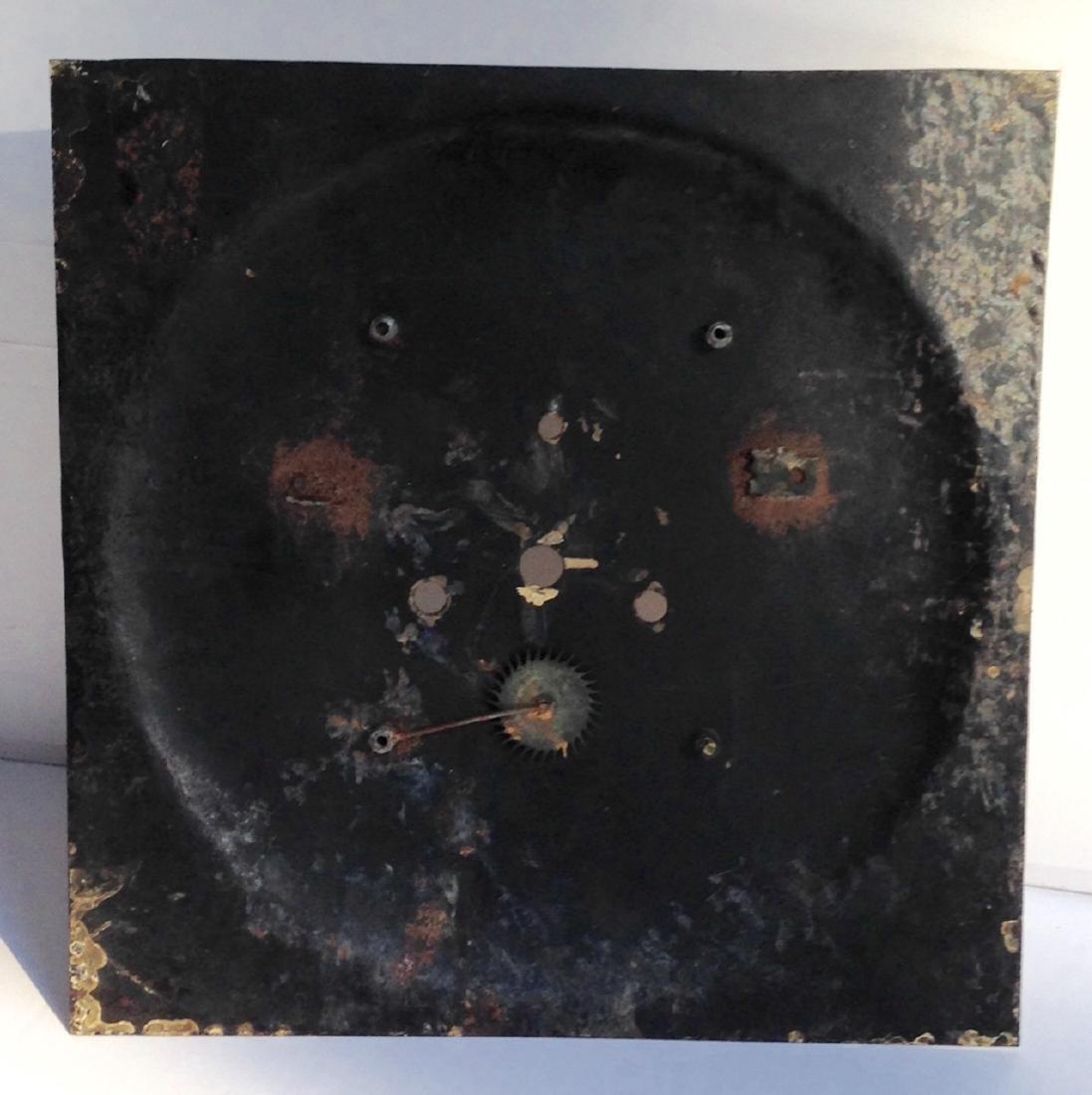 19th C Iron Clock Face in Original Paint - 5